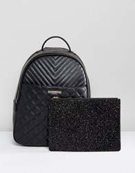 Aldo Ventea Quilted Backpack With Removeable Pouch Black