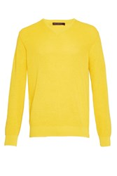 French Connection Men's Encore Knits V Neck Jumper Yellow