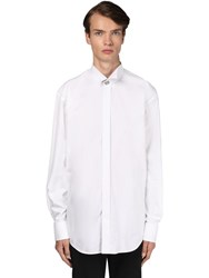 Balenciaga Cotton Poplin Shirt W Logo Cufflinks White