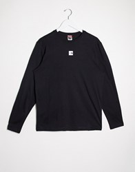 The North Face Central Logo Long Sleeve T Shirt In Black