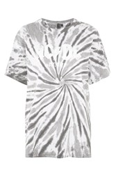 Topshop Tall Ac Dc Tie Dye T Shirt By And Finally Multi