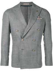 Paoloni Double Breasted Blazer Grey
