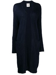 Semicouture Oversized Knitted Cardigan Blue