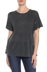 Joe's Jeans Women's Arianna Linen Tee Black