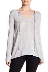 Cullen Fairisle Stripe Silk Blend Pullover Gray