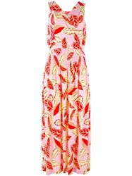 Boutique Moschino Floral Print Maxi Dress Pink