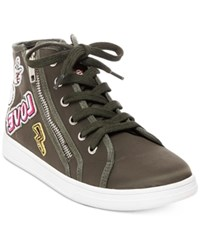 Madden Girl Cindy Hi Top Sneakers Women's Shoes Olive