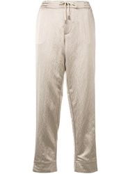 Berwich Straight Cropped Trousers Neutrals