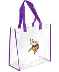 Forever Collectibles Minnesota Vikings Clear Tote Bag