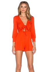 Rachel Pally Gabriel Playsuit Burnt Orange
