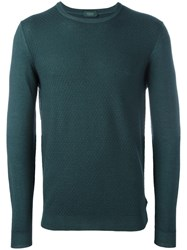 Zanone Crew Neck Jumper Green