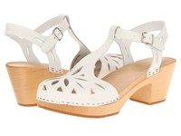 Swedish Hasbeens Lacy Sandal White High Heels