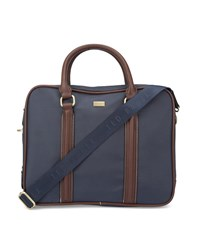 Ted Baker Navy Blue Carbon Nylon Briefcase