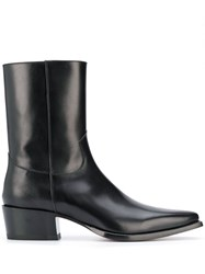 Dsquared2 Leather Western Boots 60
