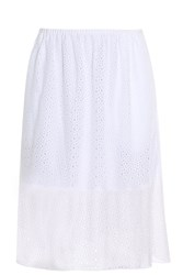 Tibi Perforated Skirt White