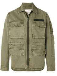 Zadig And Voltaire Zipped Fitted Jacket Green