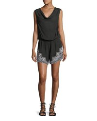 Lablanca Cabana Sleeveless Coverup Romper Black