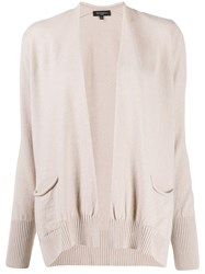 Antonelli Draped Knitted Cardigan Neutrals