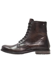 Sneaky Steve Vesper Laceup Boots Charcoal Black