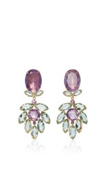 Bounkit Amethyst Two Way Earrings Purple