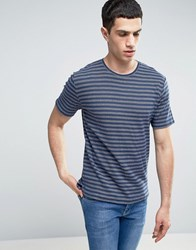 Only And Sons T Shirt With Jaquard Stripe Dress Blue Navy