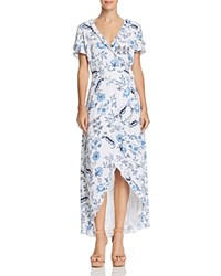 Guess Nicolle Paisley Floral Maxi Wrap Dress White