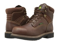 John Deere Waterproof 6 Lace Up Steel Toe Toasted Wheat Men's Boots Tan