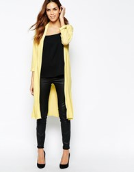 Warehouse Exclusive Jacquard Duster Coat Yellow
