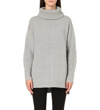 5Cm Cable Knit Detail Jumper Grey