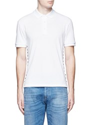 Valentino 'Rockstud Untitled 16' Polo Shirt White
