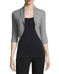 Elie Tahari Becca Half Sleeve Shrug Men's Size Small Black Grey Melange