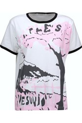J.W.Anderson Vesuvio Printed Cotton T Shirt White