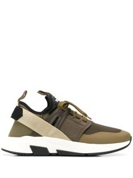 Tom Ford Yago Low Top Sneakers Green