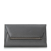 Head Over Heels Ballery Metallic Clutch Bag Pewter