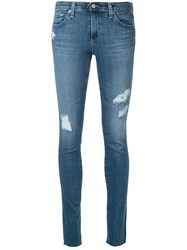 Ag Jeans Distressed Skinny Fit Blue