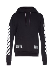 Off White 3 D Hooded Cotton Jersey Sweatshirt
