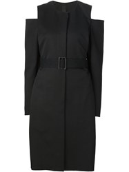 Vera Wang Cold Shoulder Coat Black