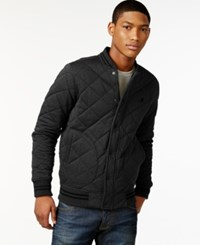 Hurley All City Rivermouth Quilted Baseball Jacket Black Heather