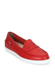 Cole Haan Pinch Weekender Leather Loafers Chili Red