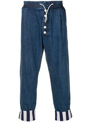 Sunnei Drop Crotch Trousers Blue