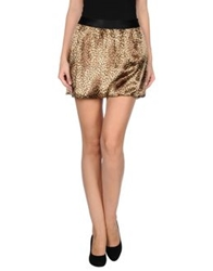 Guess By Marciano Mini Skirts Sand