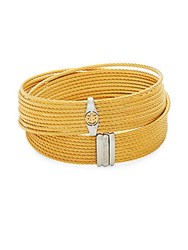 Alor Stainless Steel And 18K Gold Wrap Bracelet