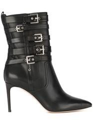 Casadei Buckled Ankle Boots Black