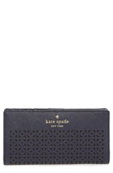 Kate Spade Women's New York 'Cedar Street Stacy' Perforated Leather Wallet Beige Off Shore