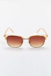 Urban Outfitters Amber Lens Round Sunglasses Brown