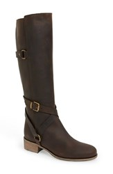 Charles David Women's 'Germana' Riding Boot Brown Pull Up Leather