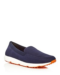 Swims Breeze Leap Knit Loafers Navy