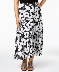 Inc International Concepts Plus Size Floral Print Maxi Skirt Only At Macy's Charming Floral