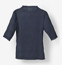 Ganni Hall Pleat Blouse Total Eclipse Huh. Store