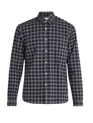 Oliver Spencer New York Check Cotton Shirt Navy